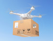 Delivery. Flying drone. 3d illustration - 175665911