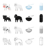 Production, nature, agriculture and other web icon in cartoon style.Animal, domestic, farm, icons in set collection. - 175666930