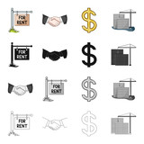 Realtor, biz, occupancy and other web icon in cartoon style.Purchase, sale, office, icons in set collection. - 175667325