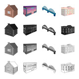 House, residential, building, and other web icon in cartoon style. Administrative, museums, theater, icons in set collection. - 175667544