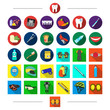 Постер, плакат: Competitions dentistry and other web icon in cartoon style Protection elbow pads icons in set collection