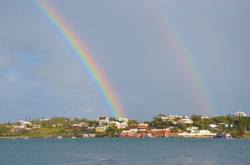Double rainbow, Hamilton, Bermuda
