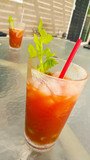 Bloody Mary Drinks on the Table on Patio - 175671941