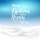 Christmas and new year background with snowy landscape - 175671959