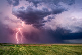 Fototapety Lightning bolts from a thunderstorm