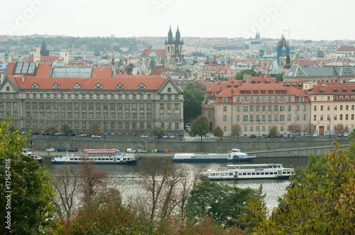 Deurstickers Praag Praga