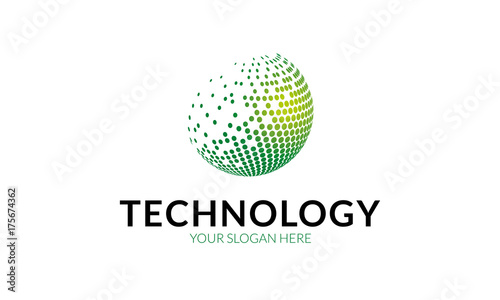Fototapeta Technology Logo