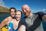 Family selfie on tropical vacation - 175678337