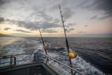 Deep Sea Fishing Reel on a boat during sunrise - 175678556