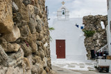 rock wall on Mykonos - 175685119