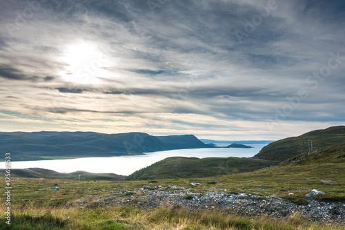 Foto op Canvas Groen blauw Northern Norway landscape. Finnmark
