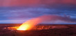 Kilauea volcano crater as it eats at sunset in Hawaii volcano national park, Big Island, Hawaii, USA