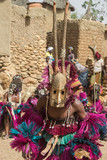 Traditional wooden dogon mask, Mali, West Africa  - 175704770