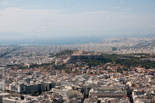 Sticker Panorama over Athens