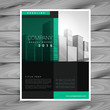 dark company brochure poster template design in geometric shape style