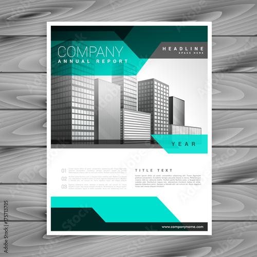 elegant company leaflet business brochure vector template design