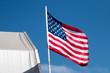 Quadro American flag in the wind