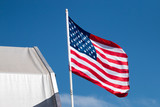American flag in the wind - 175715773