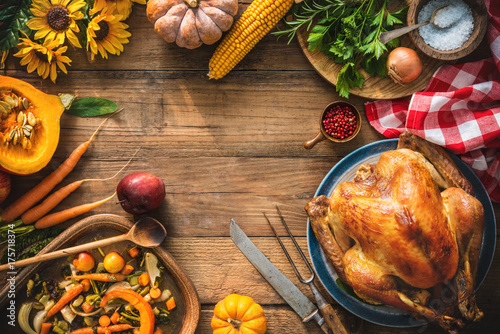 Deurstickers Wanddecoratie met eigen foto Christmas or Thanksgiving turkey
