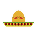 folk hat mexican culture related icon image vector illustration design  - 175725160