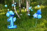 decoration for first birthday smash the cake - 175731337