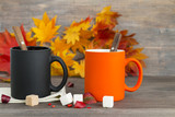 Concept of autumn and warming drinks. Selective focus. - 175733356