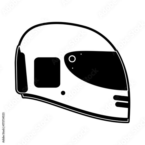 helmet motorcycle icon image vector illustration design black and white