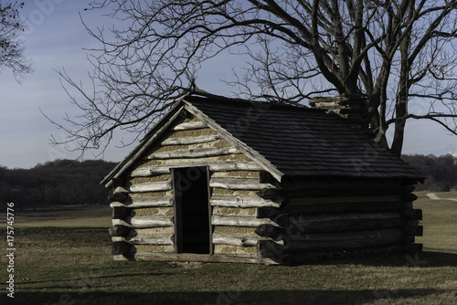log cabin at Valley Forge National Historical Park Poster