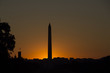 Washington Monument at sunset in Washington District of Columbia