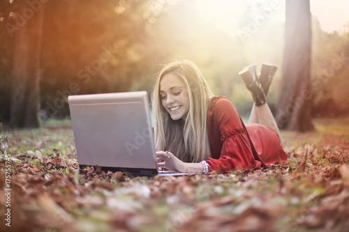 Fotobehang Hoogte schaal Working outdoors