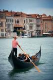 Gondola in canal in Venice - 175756193