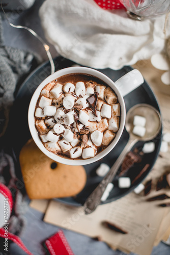 Fotobehang Chocolade gingerbread hot chocolate