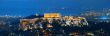 Athens skyline with Acropolis night - 175758193