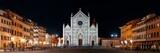 Basilica di Santa Croce Florence at night panorama - 175758996