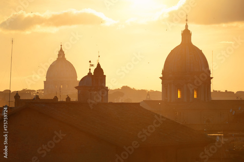 Fotobehang Rome Rome sunset rooftop view