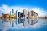 New York City skyline with view of Financial District in lower Manhattan - 175761106