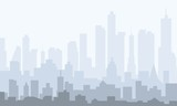 Morning City Skyline - vector - 175761135