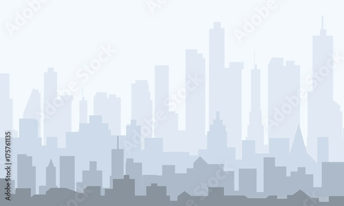 Morning City Skyline - vector