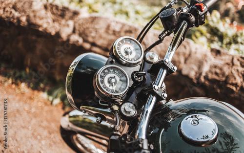Tuinposter Fiets Motorrad