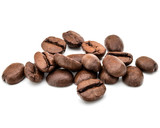 roasted coffee beans isolated in white background cutout - 175772799