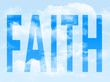 The word faith in the symbol
