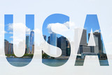 The word USA in the symbol