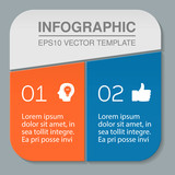 Vector infographic template for diagram, graph, presentation, chart, business concept with 2 options. - 175778595