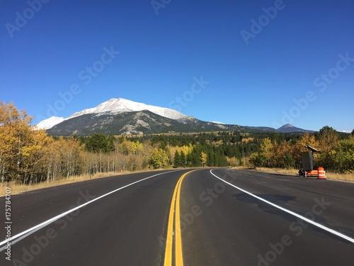 Road in Colorado at autumn