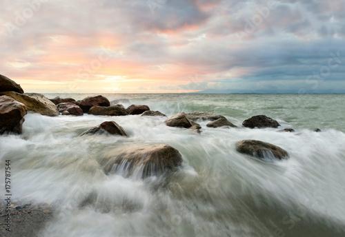 Fotobehang Strand Sunset Ocean