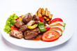 Beefsteak with fried potato - 175787775