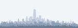 New York Morning City Skyline - vector