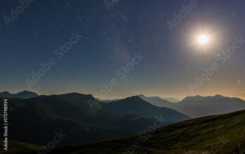 Deurstickers Nachtblauw Massif du Mont-Blanc