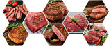 Mosaic of different sorts of meat