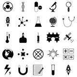 science icon set - 175803589
